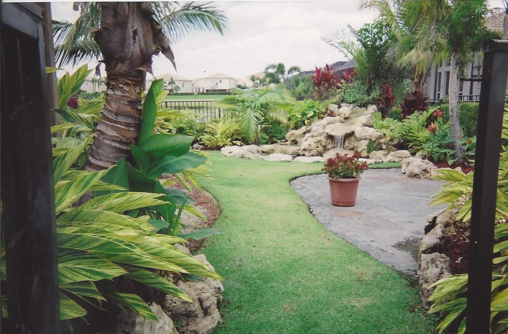 Waterfall & pond with landscape for a small yard