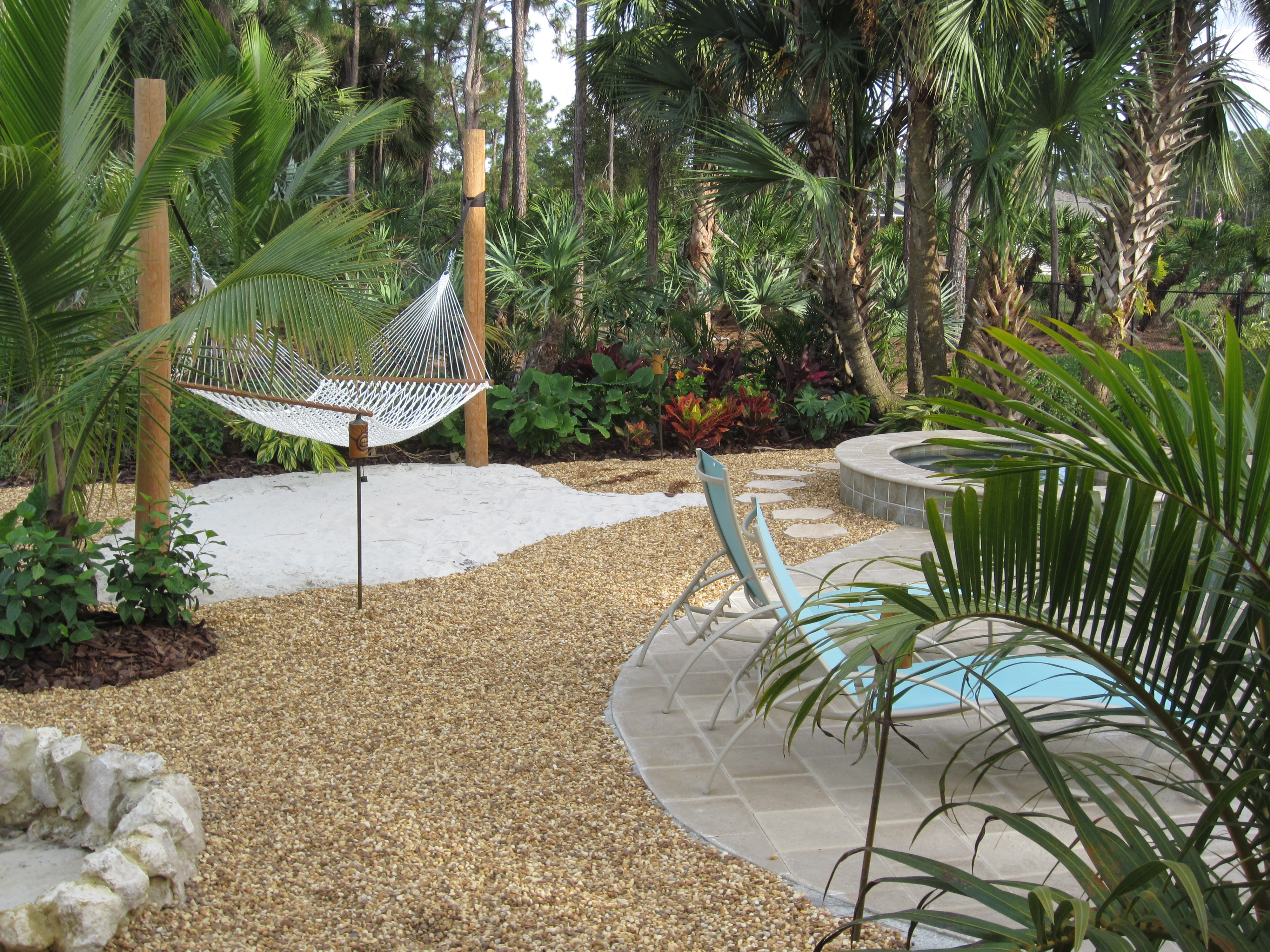 Tropical Landscape Backyard West Palm Beach Universal