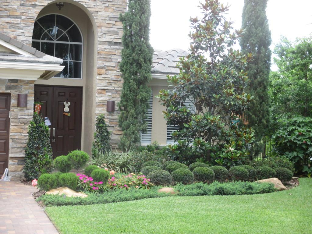 Evergreen Simple Low Maintenance Landscape Design For