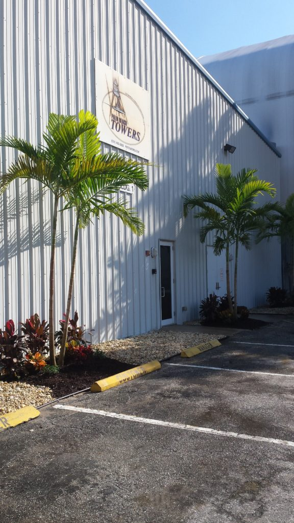 New Solitaire Palms & tropical landscape for Commercial building.
