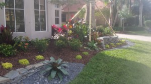 Front Yard Flagstone & Landscape
