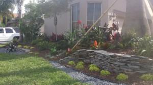 Front Yard Landscape & Stone Work