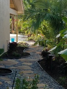 Stone Pathway leading to Residential Pool Deck