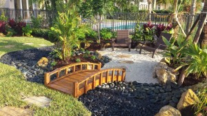 Tropical & Asian Styled Mix Landscape & Seating Area
