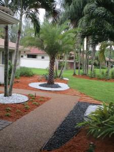 Mulch & Stone in Landscape
