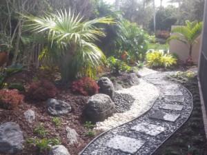 Rockscape and landscape garden