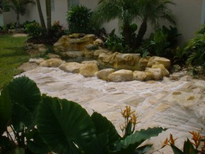 Rock Patio & Waterfall