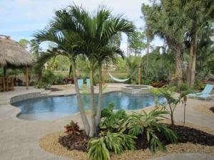 Tropical Pool Landscape & Resort Style Setting