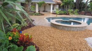 Tropical Green & Color Plantings, Swimming Pool