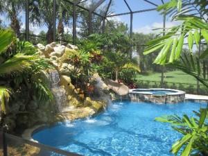 Residential Pool & Waterfall