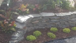 Grey Landscape Stone Border Wall